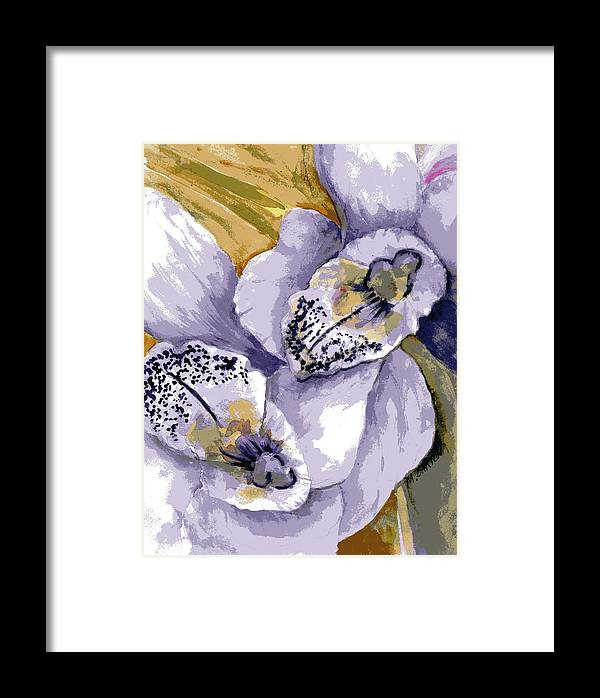 Flower Framed Print featuring the painting Sweet Orchids by Marilyn Barton