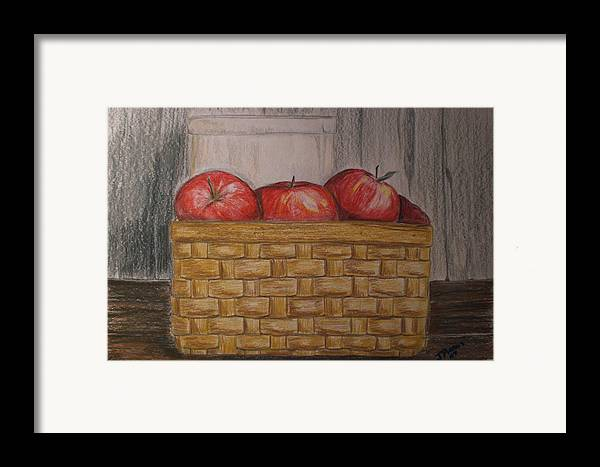 Apples Framed Print featuring the drawing Sweet Pickens by Jessica Mason