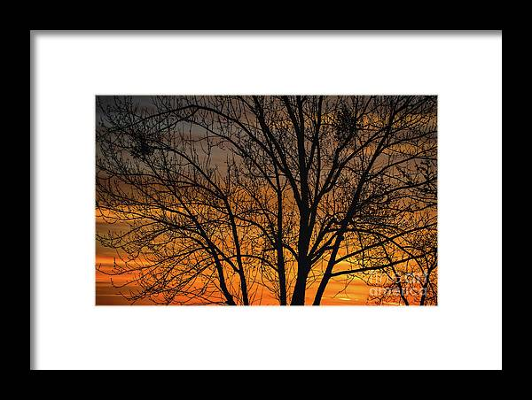 Sweet Sunset Framed Print featuring the photograph Sweet Sunset by Mitch Shindelbower