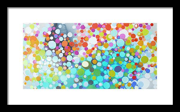 Abstract Framed Print featuring the painting Sweet Thing by Claire Desjardins