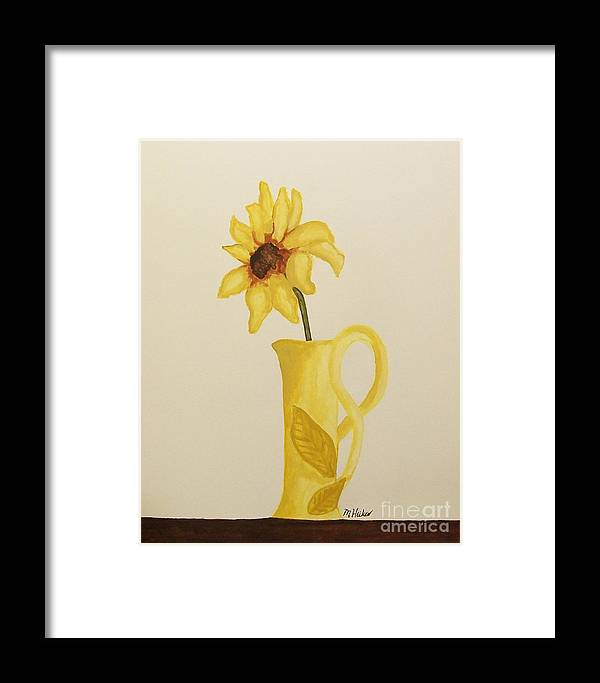 Painted Framed Print featuring the painting Sweetest Sunflower by Marsha Heiken