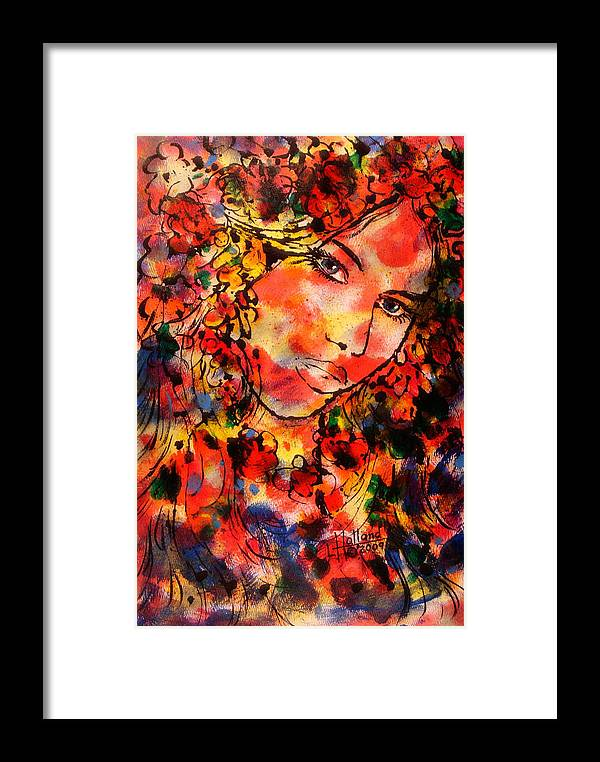 Impressionism Framed Print featuring the painting Sweetheart by Leonard Holland