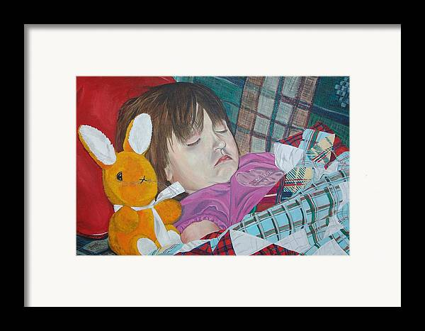 Kevin Callahan Framed Print featuring the painting Sweetie Pie by Kevin Callahan