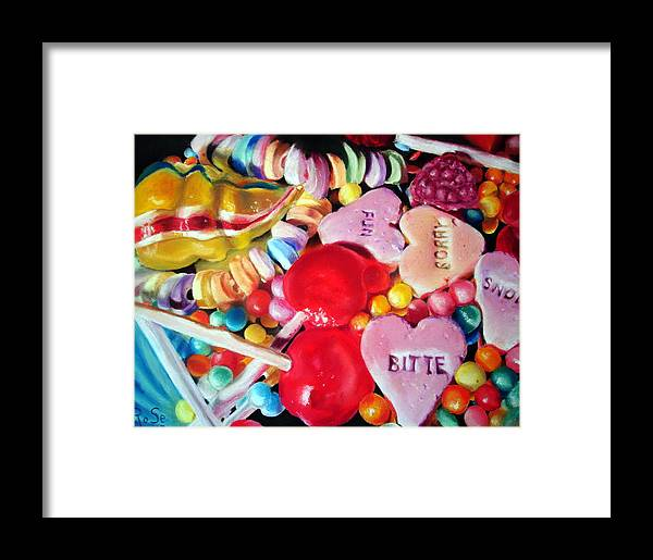 Soft Pastels Framed Print featuring the painting Sweets For My Sweet by Rose Sciberras