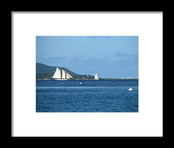 Caribbean Framed Print featuring the digital art Swept Away by Ginger Howland