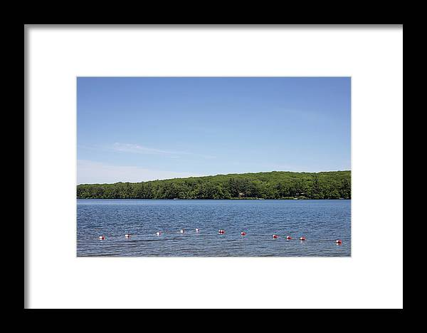 Thorndike Pond Framed Print featuring the photograph Swimming Area, Thorndike Pond by Morgain Bailey
