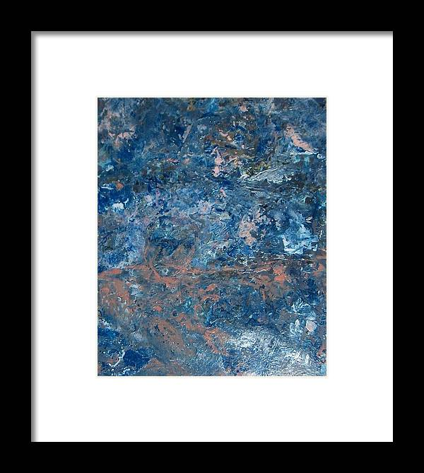 Surrealis Framed Print featuring the painting Swimming In Thought by Cathy Minerva