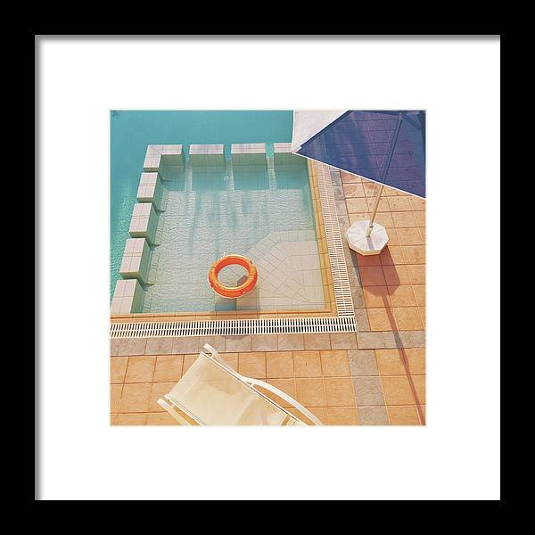 Water Framed Print featuring the photograph Swimming Pool by Cassia Beck