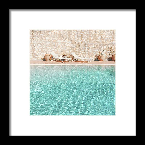 Water Framed Print featuring the photograph Swimming Pool V by Cassia Beck