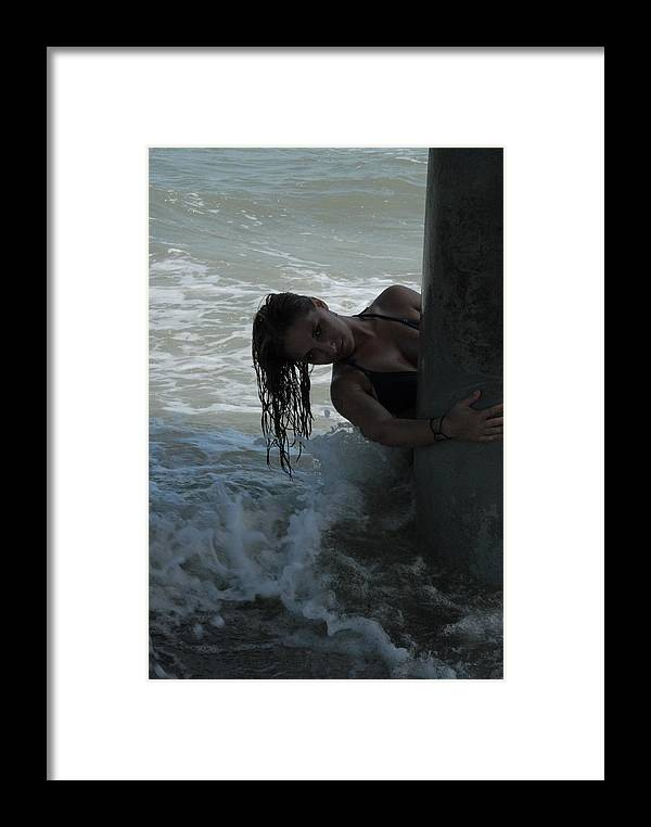 Swimsuit Framed Print featuring the photograph Swimsuit Shoot One by Steven Crown