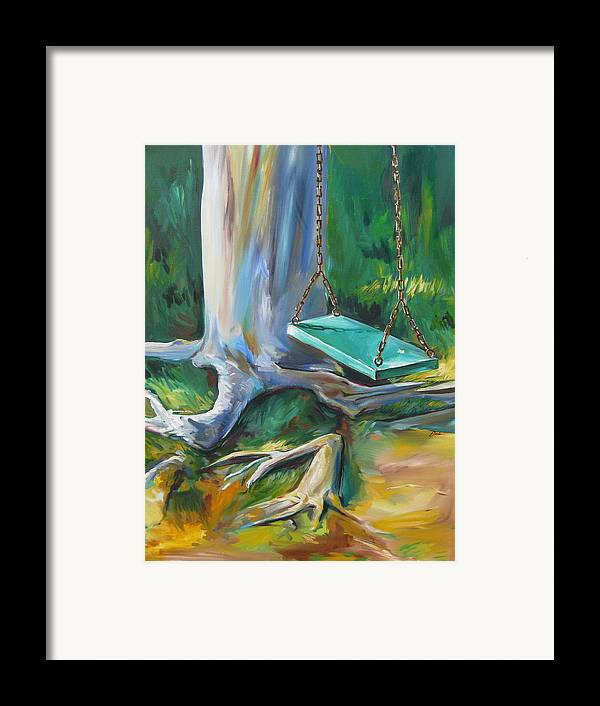 Swing Framed Print featuring the painting Swing by Karen Doyle