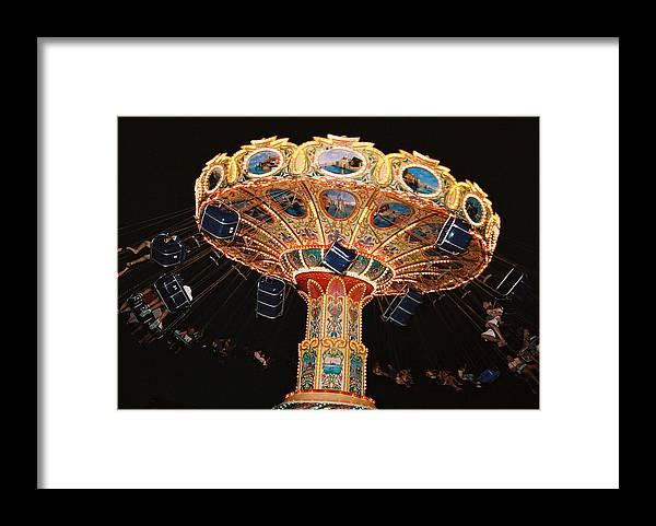 Boardwalk Framed Print featuring the photograph Swing by Steve Karol