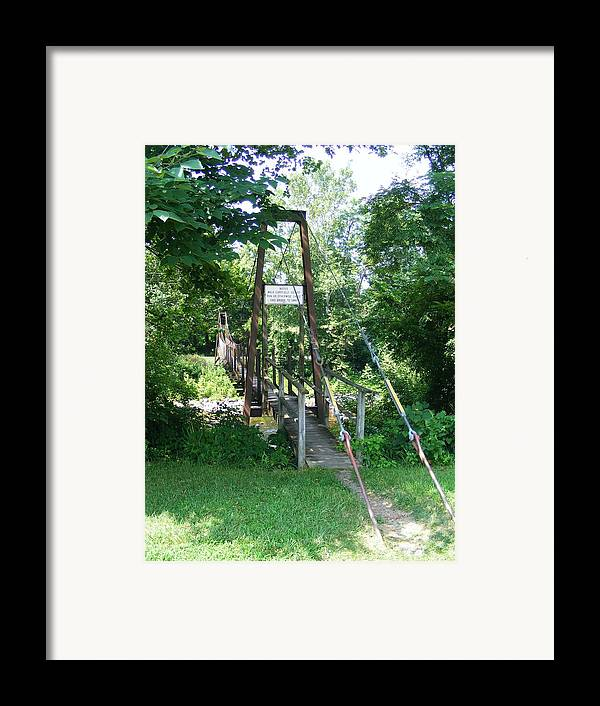 Bridge Framed Print featuring the photograph Swinging Bridge by Eddie Armstrong