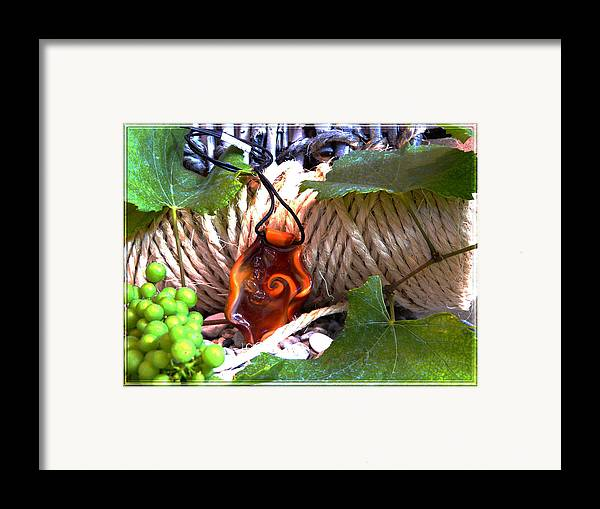 Swirl Framed Print featuring the photograph Swirl And Rope by Chara Giakoumaki