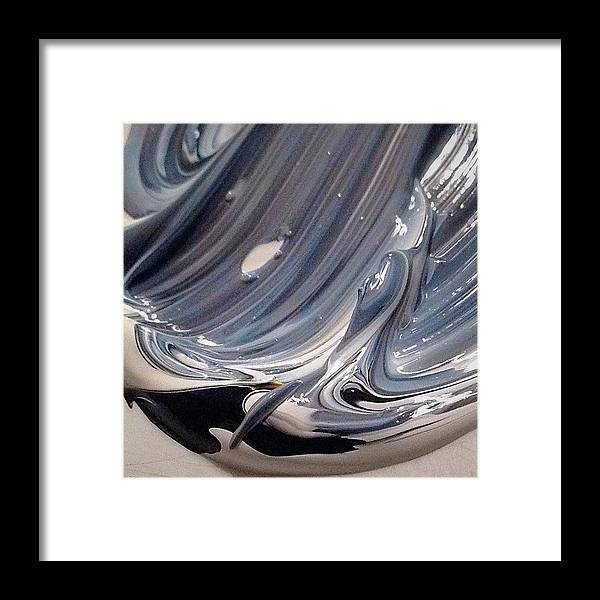 Ocean Framed Print featuring the painting Swirl by ElReco Ramon