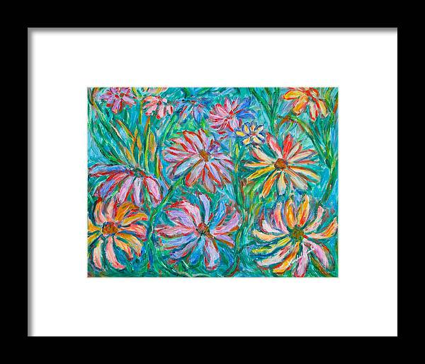 Impressionist Framed Print featuring the painting Swirling Color by Kendall Kessler