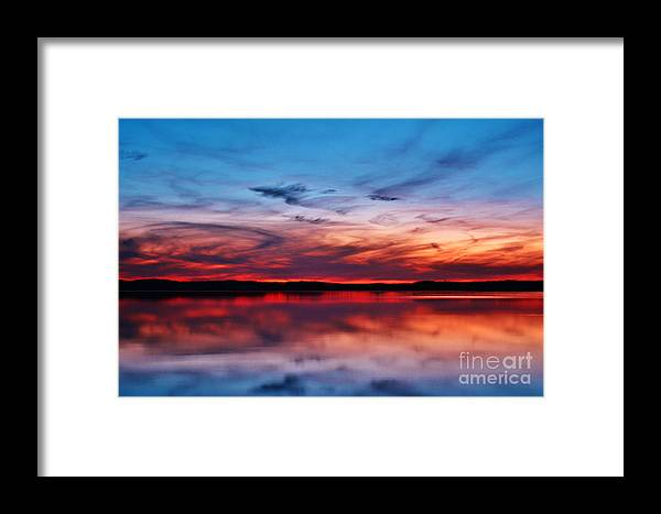 Dusk Framed Print featuring the photograph Swirls And Twirls At Twilight by Kelly Nowak