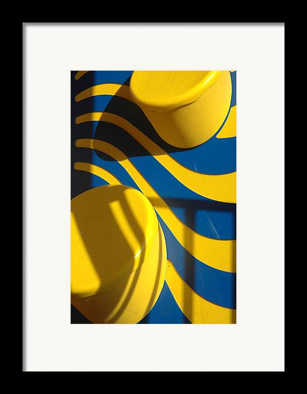 Yellow Framed Print featuring the photograph Swirls Of Fun by Mickie Boothroyd