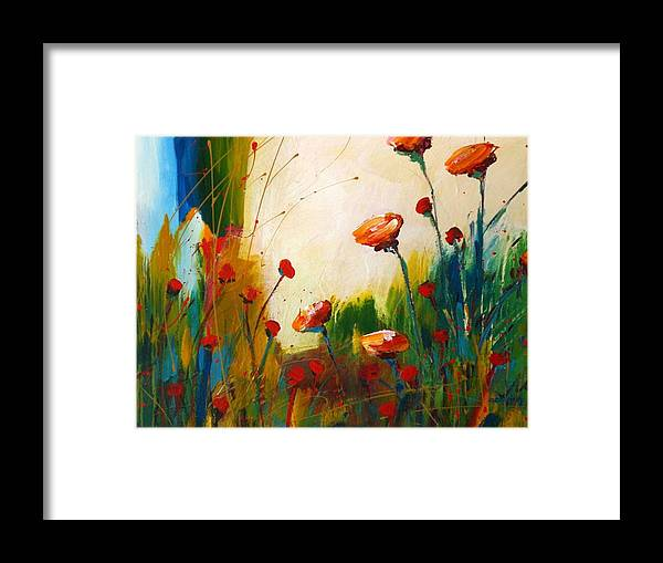 Bright Framed Print featuring the painting Swish by C C Opiela