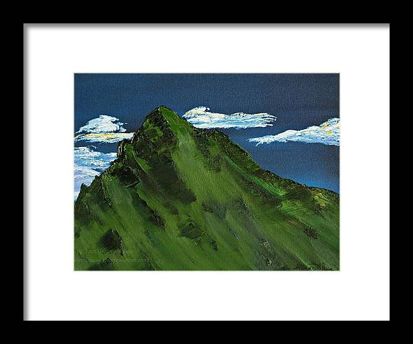 Switzerland Framed Print featuring the painting Swiss Alp by Gregory Allen Page