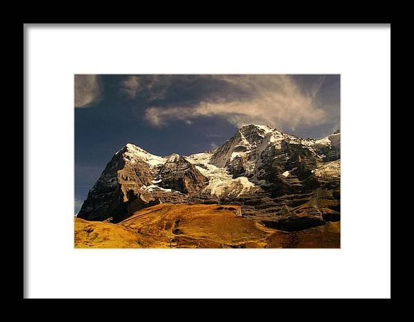 Swiss Alps Framed Print featuring the photograph Swiss Alps by James Carr
