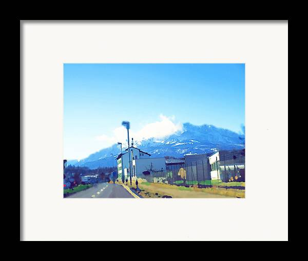 Landscape Framed Print featuring the photograph Swiss Road by Chuck Shafer