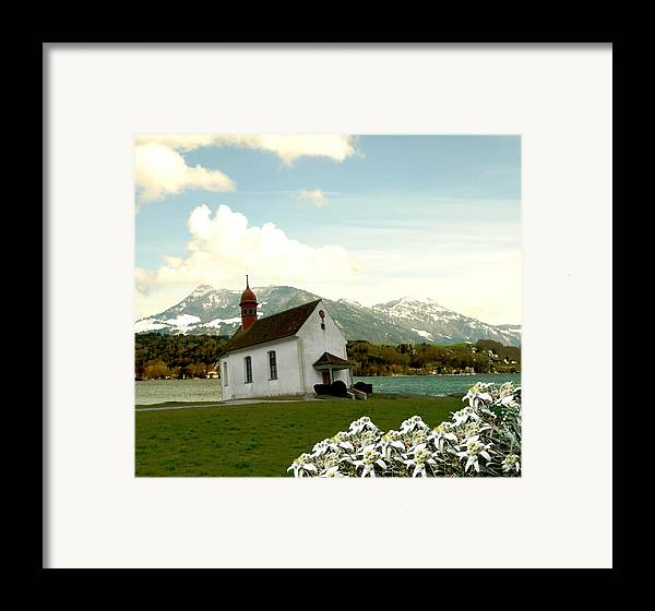 Landscape Framed Print featuring the photograph Swiss Spring Version 3 by Chuck Shafer
