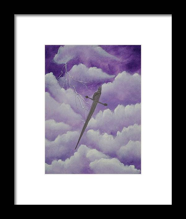 Silver Sword Framed Print featuring the painting Sword Of The Spirit by Laurie Kidd