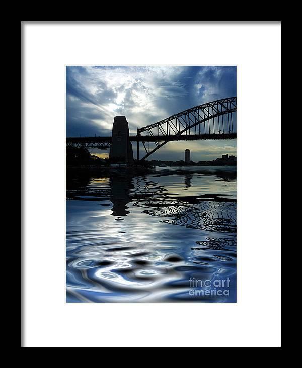 Sydney Harbour Australia Bridge Reflection Framed Print featuring the photograph Sydney Harbour Bridge Reflection by Sheila Smart Fine Art Photography