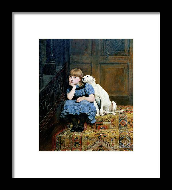 Sympathy Framed Print featuring the painting Sympathy by Briton Riviere