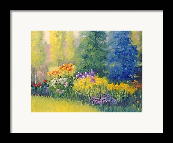 Garden Framed Print featuring the painting Symphony Of Summer by Bunny Oliver