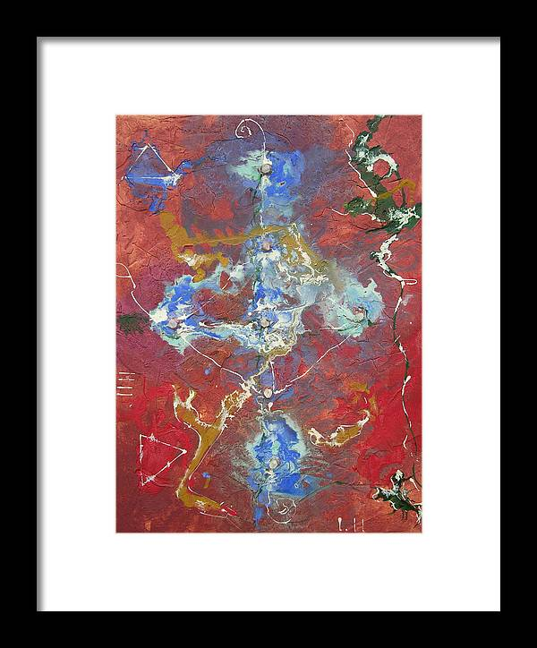 Modern Framed Print featuring the painting Synchronicity by Frederic Payet