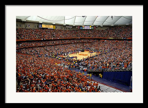 Syracuse orange carrier dome framed print by replay photos for Plan and print syracuse