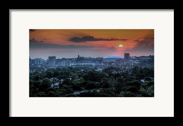 Syracuse Framed Print featuring the photograph Syracuse Sunrise by Everet Regal