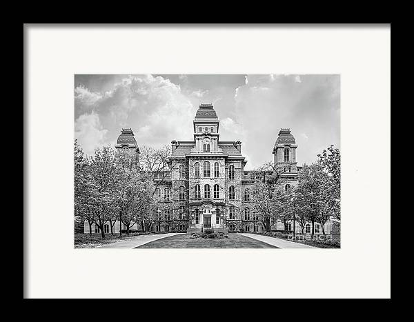 Syracuse university hall of languages framed print by for Plan and print syracuse