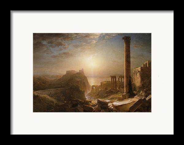 Syria Framed Print featuring the painting Syria By The Sea by Frederic Edwin Church