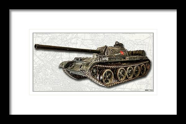 T-54 Framed Print featuring the photograph T-54 Soviet Tank W-bg by Weston Westmoreland