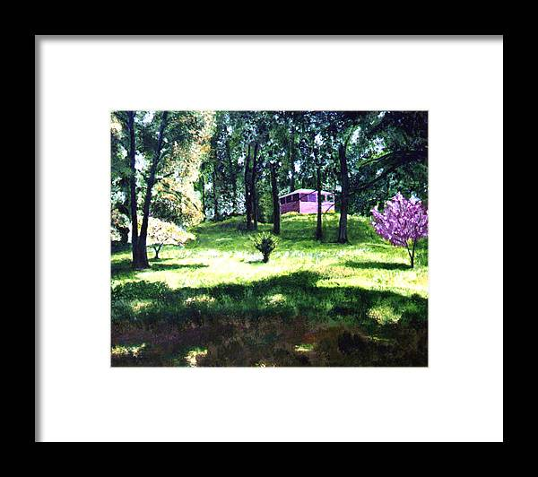 Landscape Framed Print featuring the painting T C Steel by Stan Hamilton