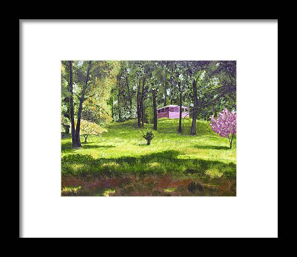 Landscape Framed Print featuring the painting T C Steels by Stan Hamilton
