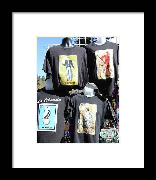 Dia De Los Muertos Framed Print featuring the photograph T Shirt Display Day Of Dead by Chuck Kuhn