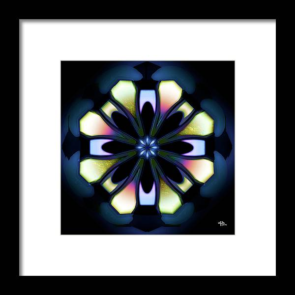 Geometric Abstract Framed Print featuring the digital art t by Warren Furman