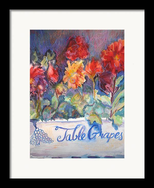 Flowers Framed Print featuring the painting Table Grapes by Joyce Kanyuk