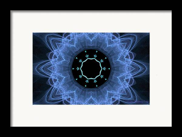 Abstract Art Framed Print featuring the digital art Table Of Hearts by Wayne Bonney