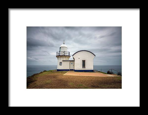 Australia Framed Print featuring the photograph Tacking Point Lighthouse At Port Macquarie, Nsw, Australia by Miroslav Liska