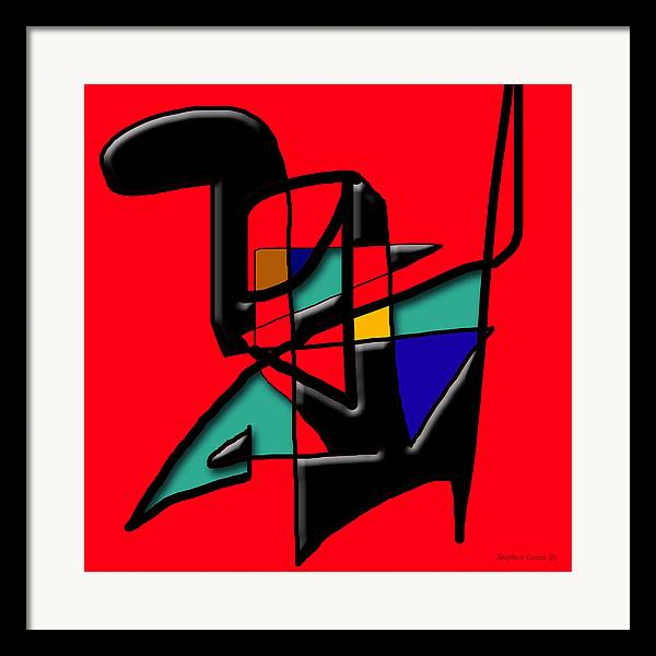 Modern Framed Print featuring the digital art Tactile Space  II  by Stephen Lucas