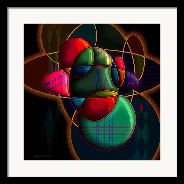 Modern Framed Print featuring the digital art Tactile Space I by Stephen Lucas