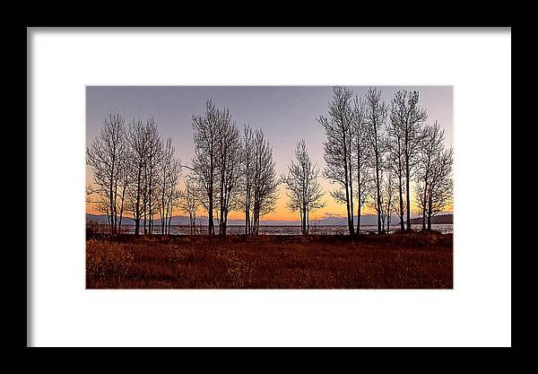 Lake Tahoe Framed Print featuring the photograph Tahoe Sunset Looking Southwest by Larry Darnell