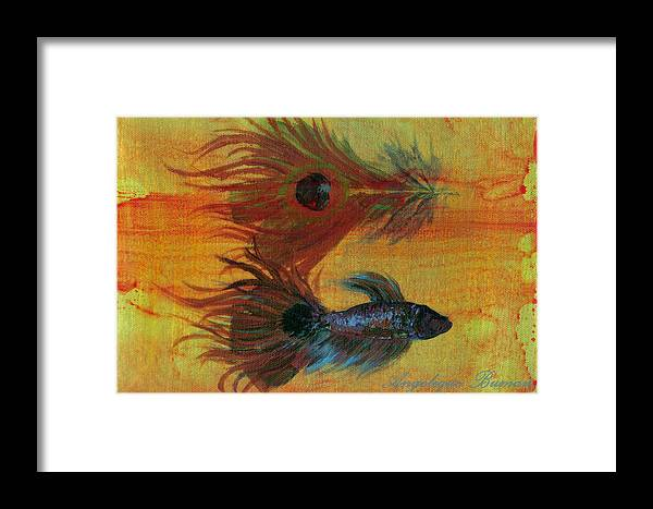 Fish Framed Print featuring the painting Tail Study by Angelique Bowman