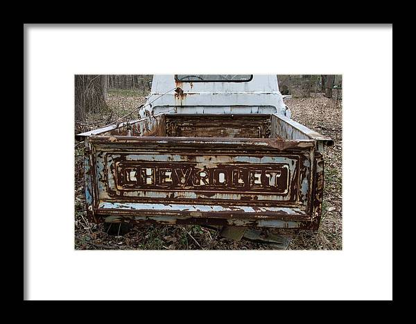Digital Framed Print featuring the photograph Tailgate by Jeff Roney