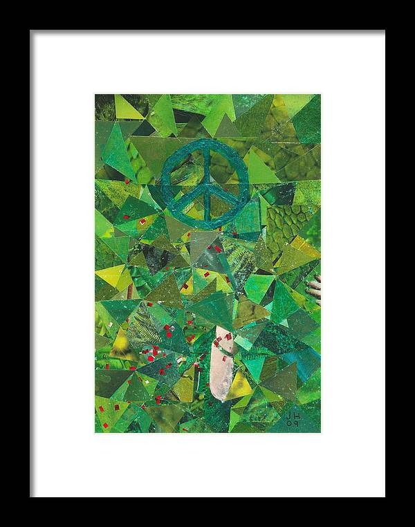Peace Framed Print featuring the painting Take A Step by Jerry Hanks